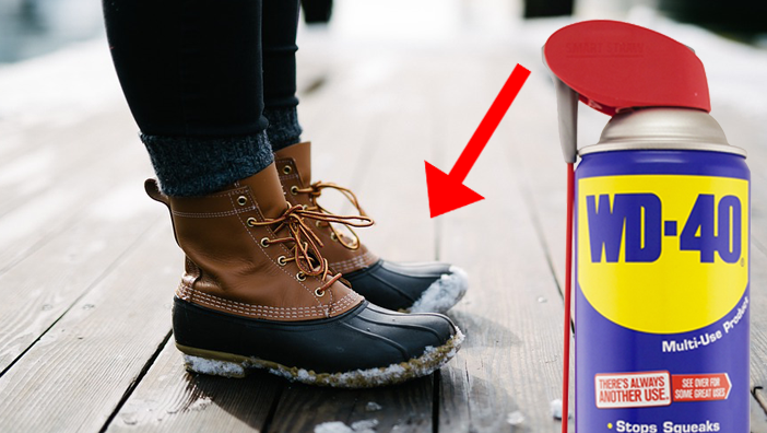 WD-40 Uses shoes